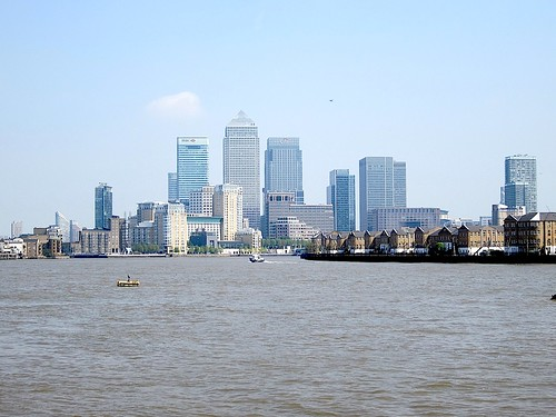Canary Wharf from Wapping