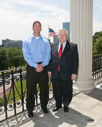 Moore welcomes USMC Capt. Michael Gagnon to State House