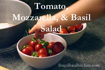 Tomatoes with Mozzarella and Basil Salad