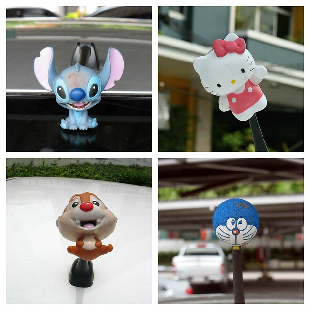 More car antenna decorations flickr photo sharing for Antenna decoration