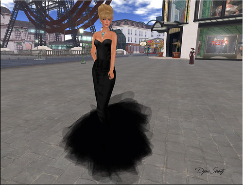 Paris METRO Couture: Fira Mermaid NOIR Gown by Dyana Serenity