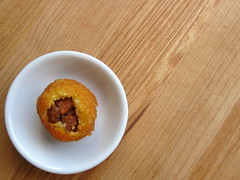polenta arancini with piave and nduja