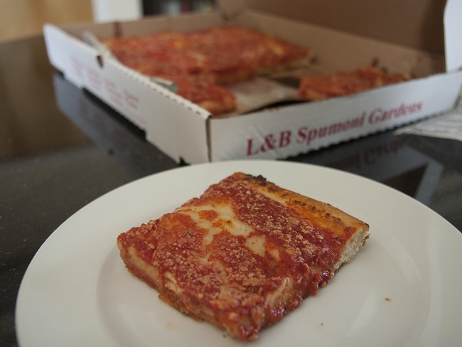 L&B Spumoni, at home