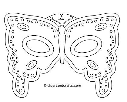 Butterfly mask template flickr photo sharing for Children s mask templates