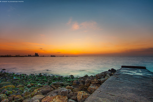 Shuwaikh beach sunset - Kuwait