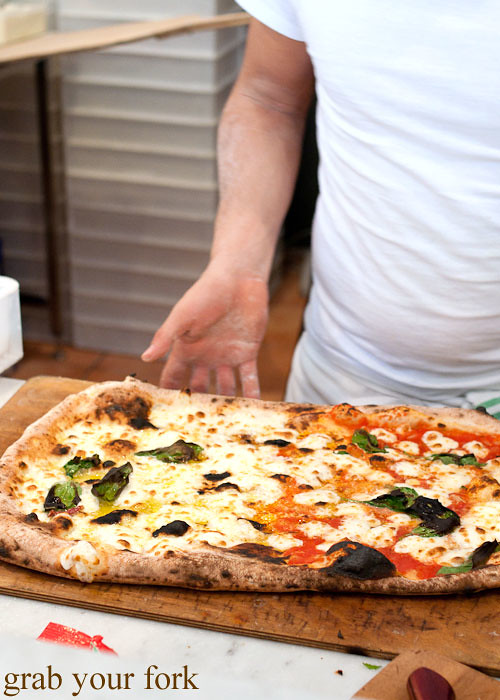 half-metre pizza at via napoli lane cove