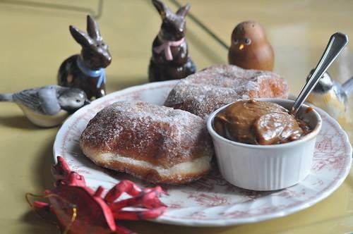 Mmm...brioche doughnuts with dulce de leche