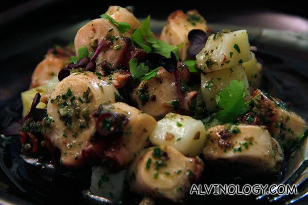 Polpo con patate - slow cooked octopus with potato