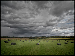Storm over the harvest.