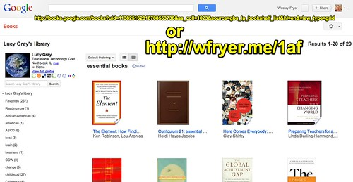 Essential Books List from Lucy Gray on Google Books