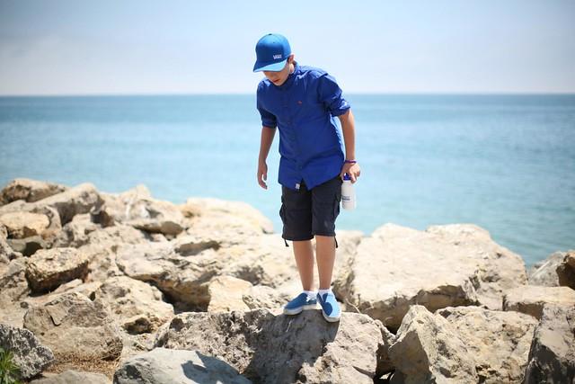 parker on the rocks