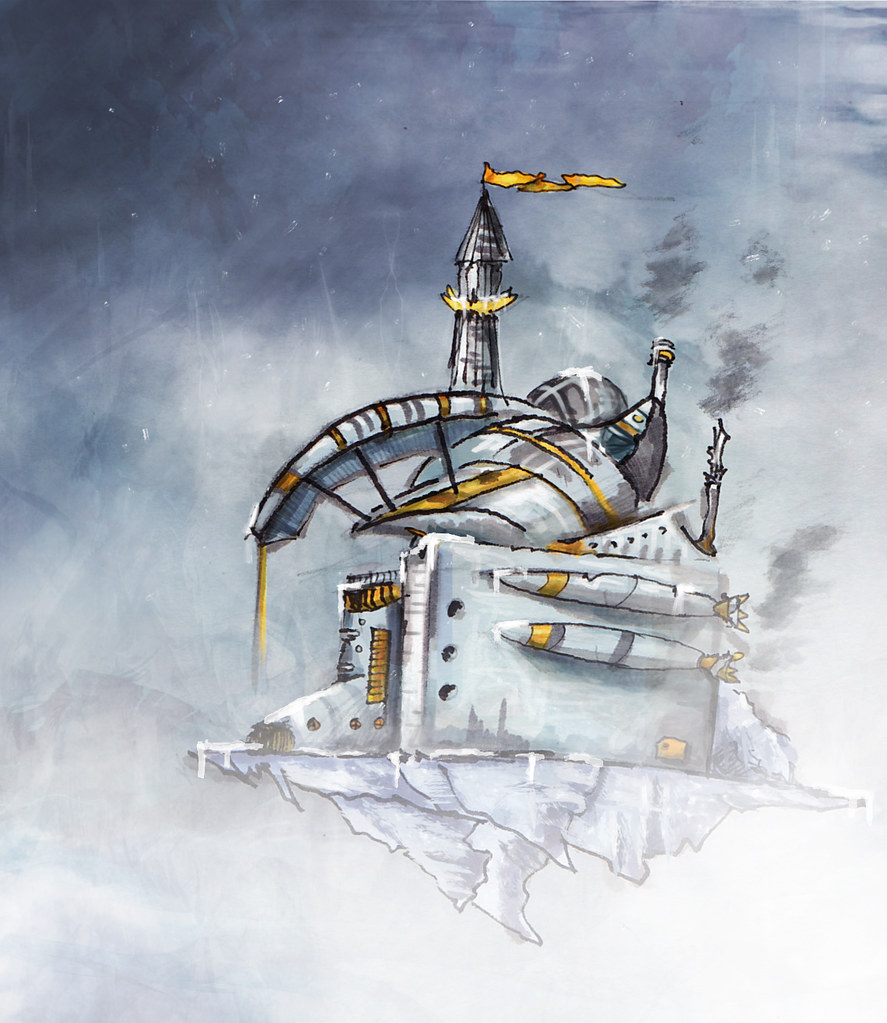 Arctic ship sketch concept