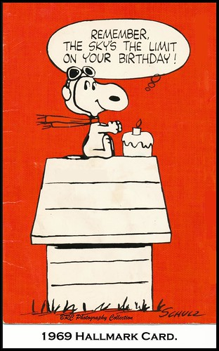 1969, Hallmark, Snoopy Pop-Up Birthday Card