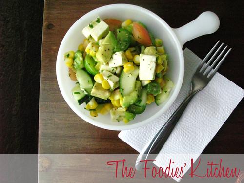 Corn and Avocado Salad with Cilantro Vinaigrette
