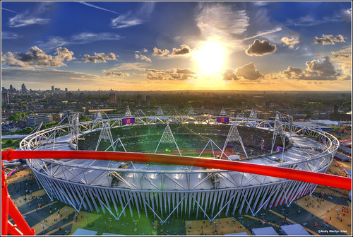 Olympic Stadium from the Orbit by A.W. Martyr-Icke