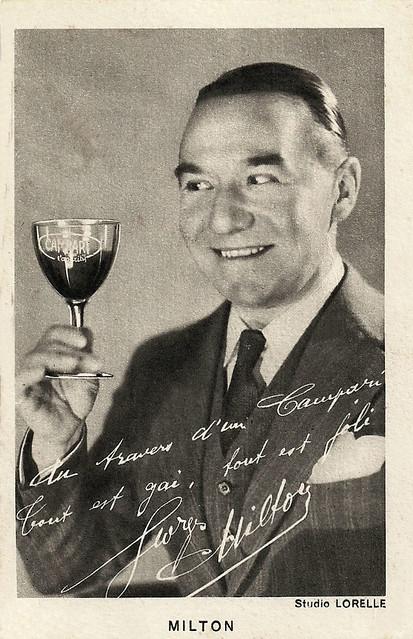 Georges Milton pub Campari