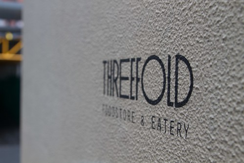 Threefold outside sign