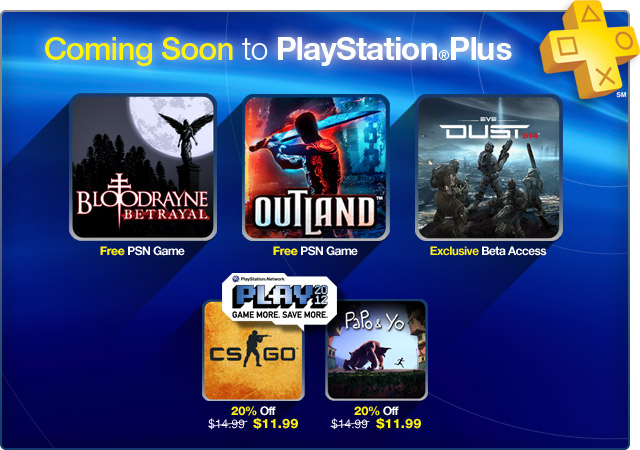 PlayStation Plus Update August 2012