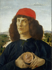 Painting of Man holding medal