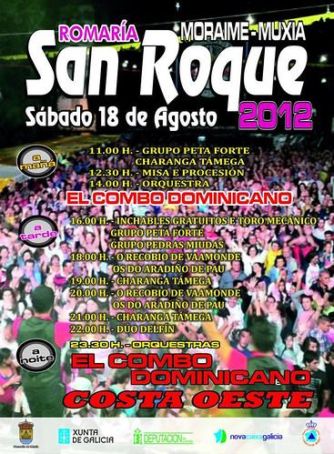 Muxía 2012 - Romaría de San Roque en Moraime - cartel