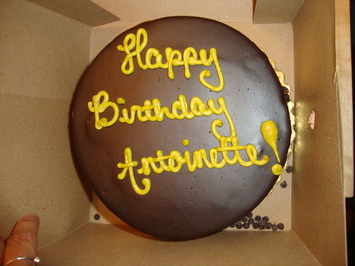 vegan birthday cake.  Happy Birthday Antoinette!