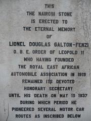 The Galton-Fenzi Memorial