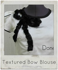 how to make a textured bow blouse