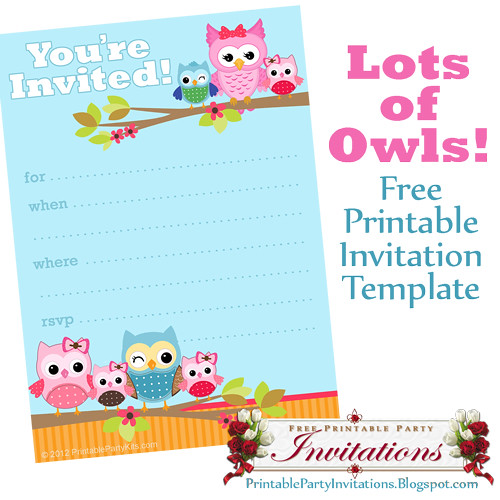 Free Printable Cute Owls