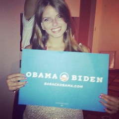 Jessica is a organizing fellow voting for the first time this November for Barack Obama.