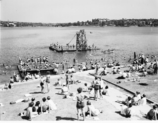 Swimmers at Green Lake, 1936
