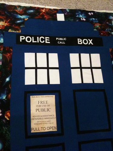TARDIS quilt close up