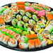From novice to seasoned sushi pro, there's something for everyone on our 62-piece Assorted Special Tray.  16 pieces of Deluxe California Roll 10 pieces of Tempura Shrimp Roll 8 pieces of Spicy Tuna Roll 8 pieces of BBQ Eel Roll 8 pieces of Vegetable Roll 7 pieces of Assorted Nigiri 5 pieces of Inari Sushi