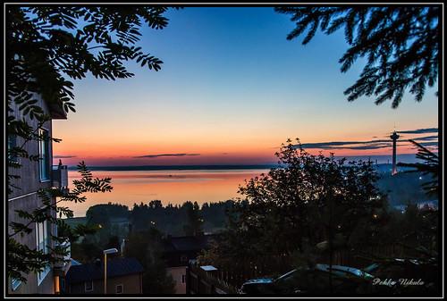 lake water sunrise finland tampere näsijärvi pispala auringonnousu