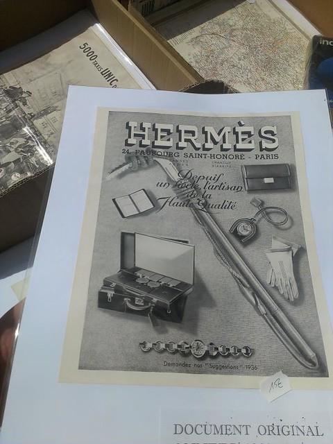 vintage Hermes print