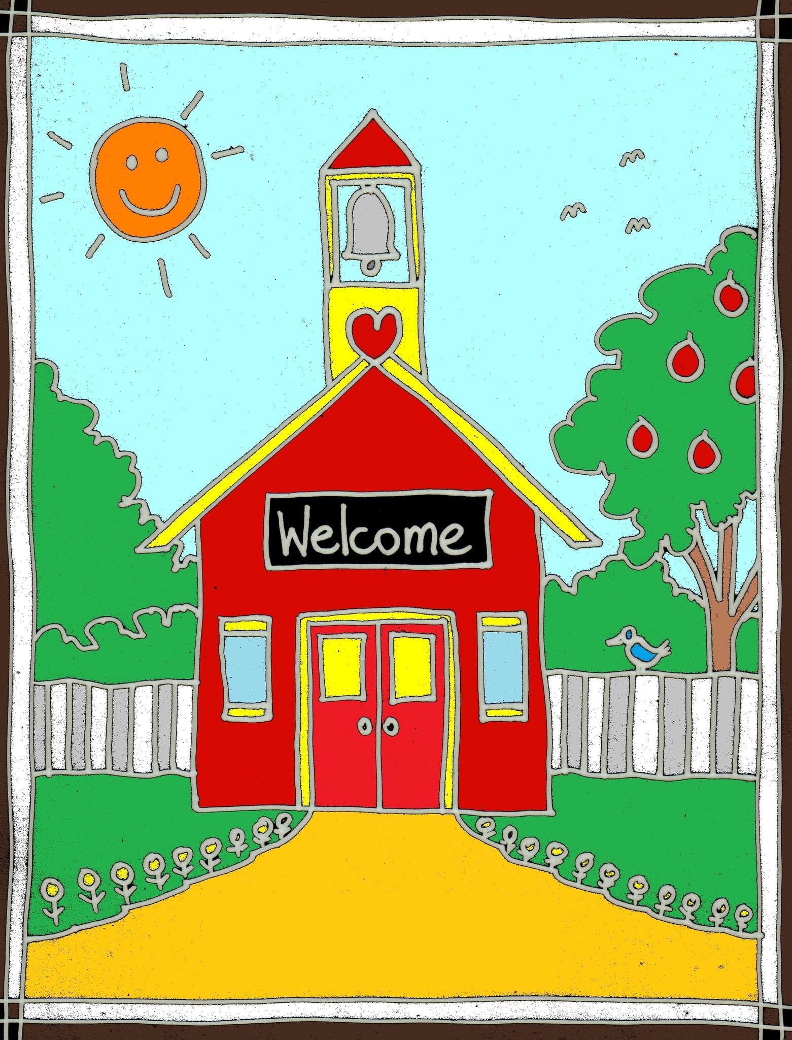 Teacher Clip art: Red schoolhouse by Stushie – Stushie Art