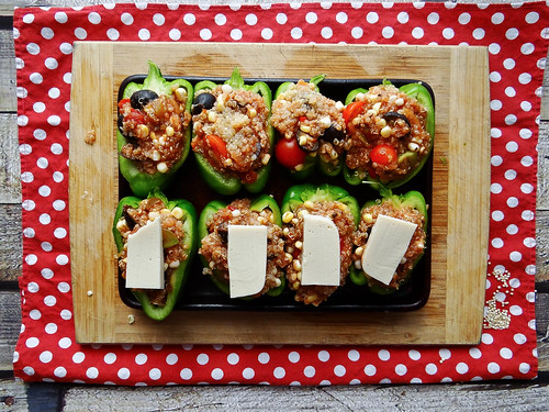 mexican quinoa stuffed green peppers