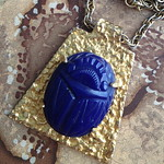 Kenneth Jay Lane scarab necklace