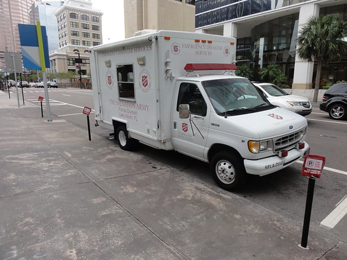 The Salvation Army is providing water throughout Tampa