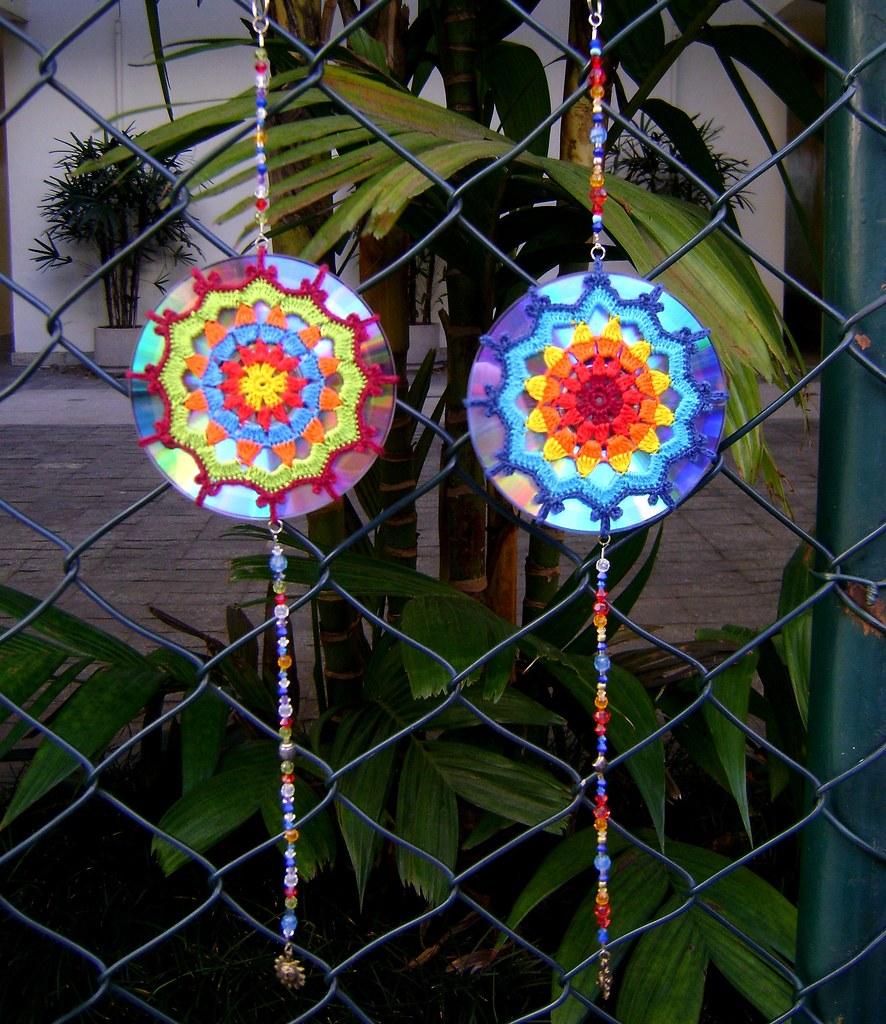 Mandala De Crochet Em Cd Reciclado A Photo On Flickriver
