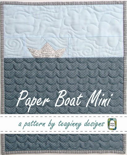paper boat mini quilt, pattern cover
