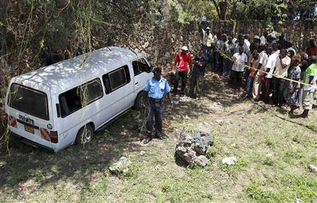 Kenya police guard van where Muslim cleric was killed. The incident has triggered rebellions in the country by Pan-African News Wire File Photos