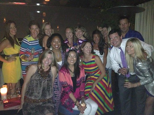 the surprise party on the rooftop at the Thompson Beverly Hills