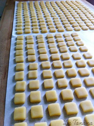 preparación galletas mosaico