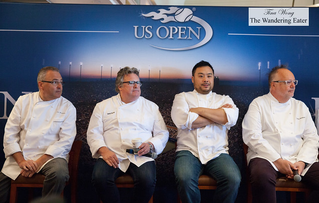 Left to right: Ed Brown, David Burke, David Chang and Tony Mantuano
