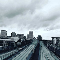 #tacomawa #downtown #downtowntacoma #clouds #city #highway