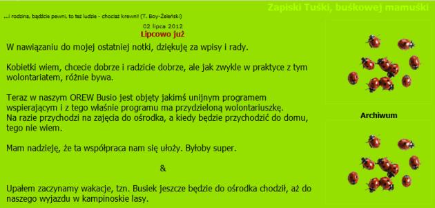 zapiski Tuśki