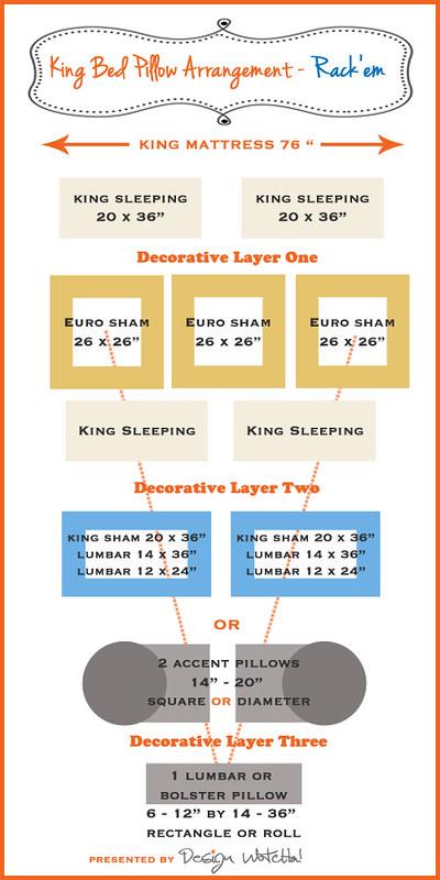 king bed pillow arrangement 2