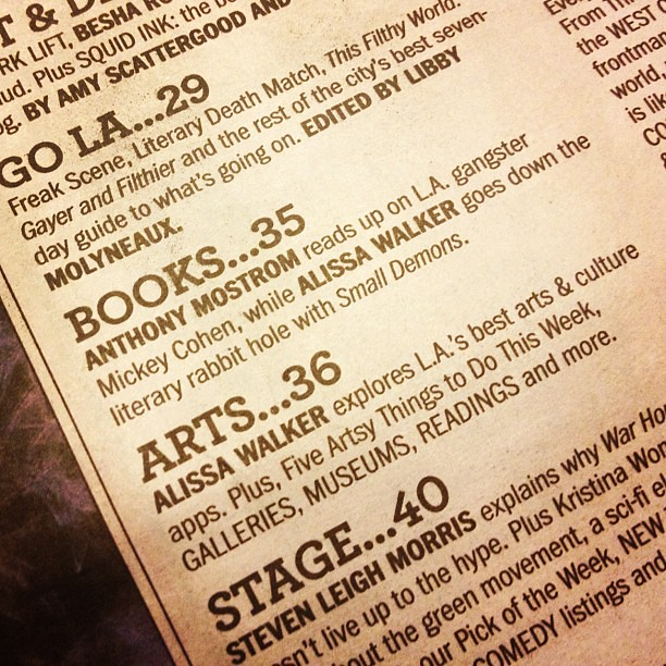 Double header in this week's @LAWeekly.