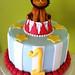 circus lion smash cake