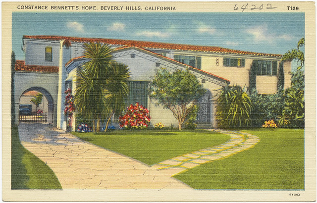 Constance bennett 39 s home beverly hills california for Beverly hills celebrity homes map
